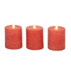 Benzara Classy Set Of 3 Flameless Candle With Remote