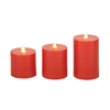 Benzara Lovely Set Of 3 Flameless Candle With Remote