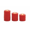 Benzara Safe Set Of 3 Flameless Candle Remote