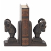 "Exceptional Ram Head Bookend Pair 4""W, 7""H"