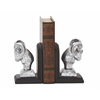 "Benzara Remarkable Ram Head Bookend Pair 4""W, 7""H"