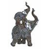 "Table Top Polystone Elephant 11""H, 5""W Statue"
