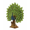 Benzara Elegant Jade Colored Peacock Decor