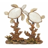 "Benzara Unique Polystyrene Double Sea Turtle 8""W, 9""H"