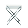 Classic Metal Acrylic Tray Table, Grey & Translucent