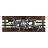 Enthralling Wood Leather Wall Decor, Brown