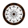 Enticing Metal Wood Wall Decor, Shades Of Brown