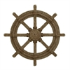 Nautical Wood Rope Ship Wheel, Brown