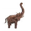 "Remarkable Metal Elephant 17""W, 23""H"
