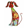 "Adorable Multicolored Iron Dog Garden And Lawn Decor 17""H, 12""W"