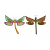 Benzara Dragonfly Assorted With Bright & Glowing Colors - Set Of 2