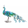 Benzara Metal Crafted Vibrant Shade Peacock Décor