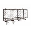 Benzara The Multipurpose Metal Shelf With Hooks
