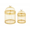 Benzara Unique And Attractive Set Of 2 Acrylic Bird Cages