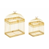 Benzara Beautiful Metal Acrylic Bird Cage