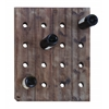 Benzara Handmade Hangable Wine Rack With 16 Slots