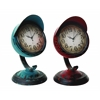 Benzara Table Clock Assorted In Red And Blue Colors - Set Of 2