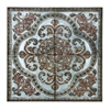 Benzara Wall Plaque Lavished With Antiqued Distressed Finish