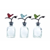 Benzara Mesmerizing Glass Metal Stopper Bottle 3 Assorted