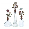 Benzara Opaque Manhattan Bottle Set