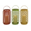 Benzara The Evergreen Metal Candle Basket 3 Assorted