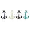 Anchor Shaped Metal Wall Hooks Set Of 4