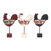 Benzara Assorted Kitchen Rooster Farm Fresh Sign In Polystone
