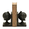 World Globe Themed Book End Set