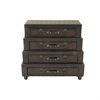 Fashionable Wood Leather Chest Drawer, Chocolate Brown