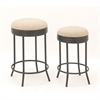 Awesome Metal Stool, Brown and White, Set Of 2