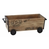 "Benzara Wood Metal Cart 22""W, 8""H Unique Home Accents"