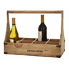 "Benzara Wood Wine Basket 18""W, 14""H Unique Home Accents"