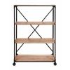 "Benzara Portable Metal Wood  Shelf 63""H, 40""W"