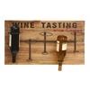 "Iron Wood Metal Wine Rack 26""W, 15""H"