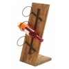 "Table Top Wood Metal Wine Holder 22""H, 9""W"