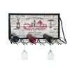 Benzara Vintage Vineyard Wine And Stemware Rack