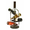 Benzara Wine Bottle Shaped Wine Rack Stand With 4 Slots