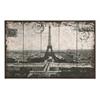 Benzara Wall Art Of Postcard Style Paris Eiffel Tower