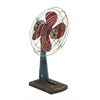 Benzara Designed Metal Fan Decor In Rustic Appearance