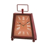 Benzara Trendy Metal Clock With Unique Shade Of Red Color
