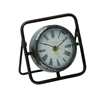 Beautiful Metal Clock With Dark Frame