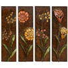 Benzara Metal Wall Decor Set Of 4 Assorted Low Priced
