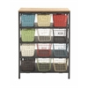 Benzara Sturdy Metal Wood Storage Rack