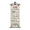 Divine Metal Fabric Wall Plaque