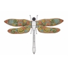 Benzara Attractive Colorful Metal Dragonfly Wall Decorative