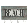 "Quirky Wood Metal Beach Wall Hook 24""W, 15""H"
