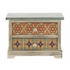 "Designer Wood Accent Chest 14""W, 10"""