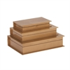Fancy Wood Gold Book Box, Gold, Set Of 3