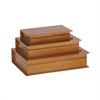 Astonishing Wood Copper Book Box, Copper, Set Of 3