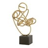 Pretty Metal Gold Sculpture, Gold